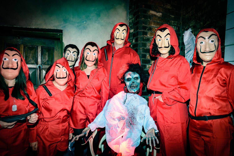 Halloween Haus des Geldes